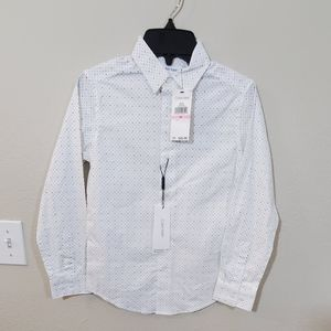 New Calvin Klein logo ck button down shirt